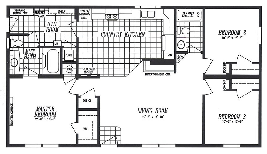 Display models chesapeake home inc for Monticello floor plan